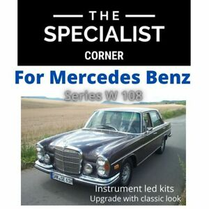 For MERCEDES BENZ CLASS W108 65-72 instrument panel 11 LED KIT