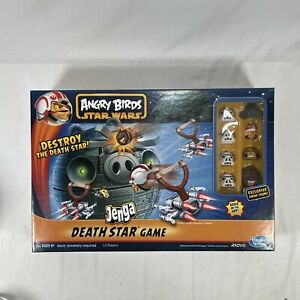 Angry Birds Star Wars Jenga Death Star Board Game Complete w/ Chewbacca