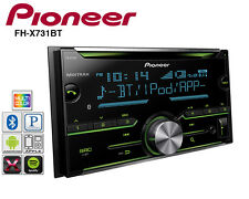 Pioneer Double Din CD Player Radio Bluetooth Pandora Iphone AUX USB FH-X731BT