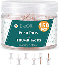 150 Clear Push Pins Plastic Head Thumb Tacks With Steel Point Used As Wall Tac