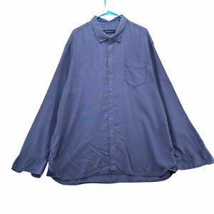 TOMMY BAHAMA Men's Long Sleeve Button Front Shirt Size 2XL XXL Blue