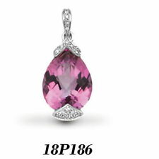 Pink Very Good Cut Fine Diamond Necklaces & Pendants