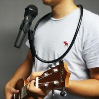 Hands Free Microphone Brace Neck Holder Mic Stand Clip Clamp Adjustable Desktop