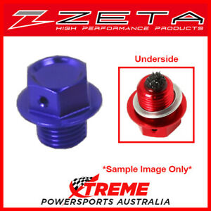 Blue Magnetic Drain Bolt M12X15-P1.5 Yamaha YZ250X 2016-2018, Zeta ZE58-1522