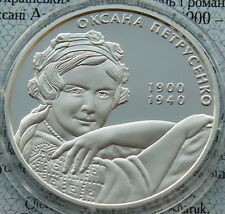 Ukraine 5 UAH 2010 Oksana Petrusenko PROOF 1/2 OZ Silver COA