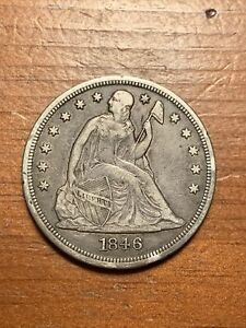 ***  RARE  1846 SEATED LIBERTY DOLLAR    ***
