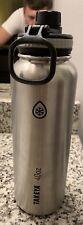 Takeya Water Bottle 40oz Stainless Steel Silver