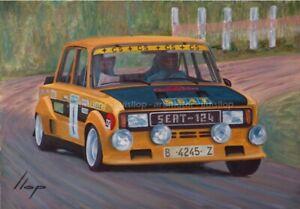 Artimotor - Fine Art Print 33x48 / 1977 Antonio Zanini - Seat 124 Proto Gr5