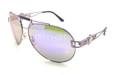 Authentic VERSACE Purple Mirror Aviator Sunglasses VE 2160 - 13494V *NEW*