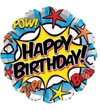 "Happy Birthday Super Hero 18"" Balloon Birthday Party Decorations"