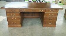 "Used Wood Executive Desk 84""×41""×29&#0 34; Very Heavy Elegant"