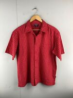 Just Jeans Men's Short Sleeved Button Up Shirt Size XL Red Check