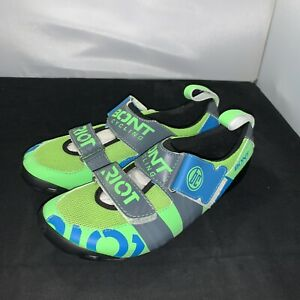 BONT Riot TR+ Triathlon Shoes Euro 42 Pearl Black Green US 8 Cycling