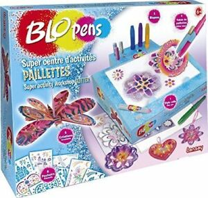 Glitzerpulver Filzstifte Super Bastel Deko Set Blopens Toy B-WARE französisch