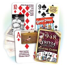 1948 Trivia Playing Cards: 70th Birthday or 70th Anniversary Gift