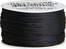 Parachute Cord Nano Cord Black RG1037 .75mm x 300ft. Braided premium nylon sport