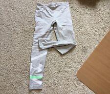 Under Armour Girl's Sweatpants Size 10/12 Gray w/ Green & White Logo