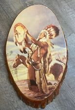 Native American Indian Wall Decor Horse Wood New Mexico Mid Century Art
