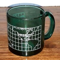 Clear GREEN Glass Capital of the World Coffee Mug Toledo Ohio USA Made Souvenir
