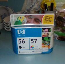 NEW Unopened HP Printer Ink 56 Black &  57 Tri-color Exp Jan 2006