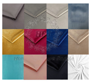 Upholstery Plush French Velvet Fabric Soft 55 inch Wide Curtains Sofa 12 Colours