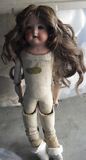 Vintage 1920s Germany Heubach Koppelsdorf 275 Bisque Leather Body Girl Doll 15""