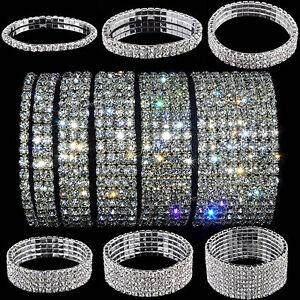 Wedding bridal crystal rhinestone stretch bracelet 3/4/5/7/9/10 fashion jewelry