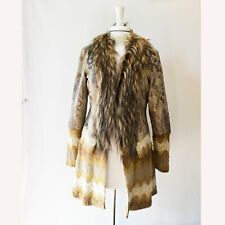 Dolce Cabo | Knit Coat Snakeskin/Chevron Knit/Faux Fur – Size M