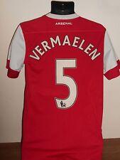 Arsenal Home Football Shirt Jersey (2010/2011*VERMAELEN 5) small men's #603