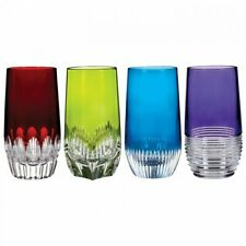 Waterford Mixology Assorted Colored HiBall, Set of 4 - Red green blue purple