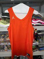 Nike Jordan Reversible Orange and White Practice Jersey Small AR4317-821