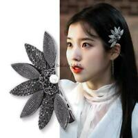 Korean Flower Side Hair Clip Rhinestone Crystal Barrette Hair Accessories Girls