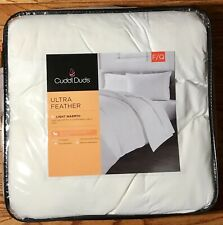 """Cuddl Duds Ultra Feather Light Warmth Full/Queen Comforter 100% Cotton 90"""" x 96"""""""