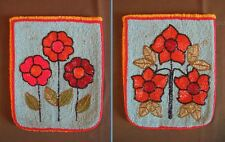 Stunning Early 1900 NW Yakama Tribe Fully Beaded 2 Sided Flat Bag Floral Motif