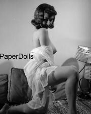 PDSN-0345 SCARCE VINTAGE 4X5 B/W 1950'S-1960'S NEGATIVE SWEET PINUP NUDE MODEL