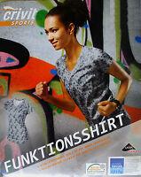 CRIVIT Mujer Camisa funcional Camiseta de Gimnasia running deportiva Fitness