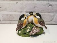 Franklin Porcelain - Peter Banett Vögel (Diorama) - 1985 - 8cm #37982#