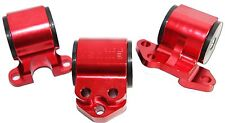 RED Engine Motor MountKit fit 92-95 Honda Civic EG 93-97 Integra 3Bolt Mount