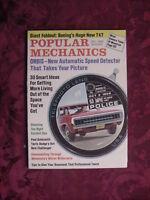 POPULAR MECHANICS December 1969 Speed Detector Ford Maverick Challenger Mazda