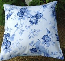 Decorative Cushion Cover in Blue Floral, Fits a Standard 35cm x 35cm Insert