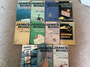 11 x Vintage James Bond 007 Ian Fleming Pan Books