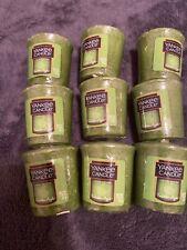 Yankee Candle Votives: FORBIDDEN APPLE Lot of 9 Green Wax Halloween