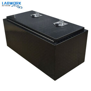 """36"""" Aluminum Underbody Bed Tool Box  for Pickup Truck  Trailer Tool Storage"""