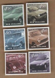 2000 New Zealand Cars SG 2329/34 Set 6 MUH