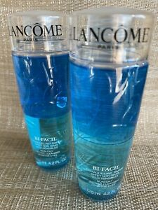 Lancome Bi-Facil 2x 125ml Instant Cleanser Sensitive Eyes 2 For 1 Price RRP £52