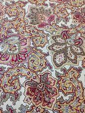 Waverly Inspirations Dark Paisley Antique Cotton Fabric Home Decor 3 Yards