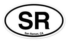 "SR San Ramon CA California Oval car window bumper sticker decal 5"" x 3"""
