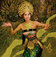 Dream-art Oil painting Oriental beauty young girl dancing hand painted on canvas
