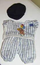 BASEBALL UNIFORM & HAT Doll Beanbag Bear Clothing