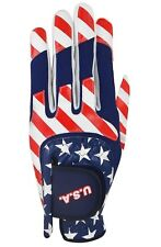 Ray Cook Golf USA Multi Fit Glove, Left Hand, One Size, Red/White/Blue